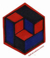 Bauhaus, 3d, Effekt, Illusion