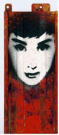 Frau, Objekt, Urban art, Metall