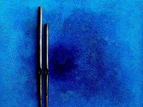 Blau, Kathedrale, Ölmalerei, Malerei