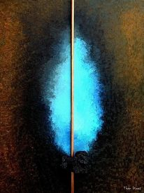 Blau, Ölmalerei, Ruhr, Abstrakt