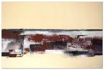 Abstrakt, Modern, Acrylmalerei, Silber