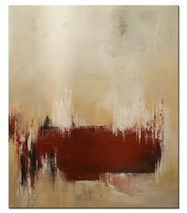 Modern, Rot, Abstrakt, Wandbild