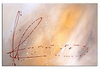 Rot, Abstrakt, Modern, Acrylmalerei