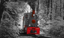 Fotografie, Dampfzug, Zug, Kunstdruck