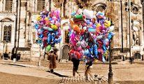 Frauenkirche, Luftballon, Farben, Landschaft