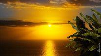 Meer, Ozean, Sonnenuntergang, Abend