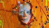 Abstrakt, Gesicht, Maske, Farben
