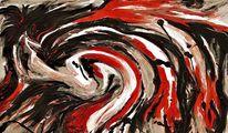 Abstrakt, Dezember, Malerei, Tiere