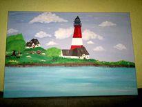 Leuchtturm, Insel, Sommer, Wasser