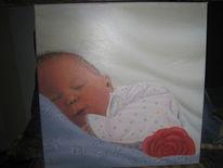 Schlafendes kind, Malerei, Baby