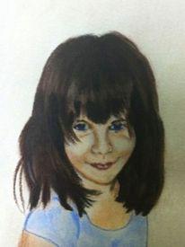 Kinderportrait, Pastellmalerei, Zeichnung, Zeichnungen