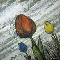 Natur, Abstrakt, Schräg, Tulpen