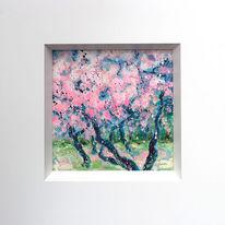 Frühling, Rosa, Garten, Baum