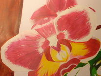 Orchidee blume, Malerei, Sommer, Orchidee