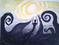 Schwarz, Acrylmalerei, Fantasie, Gefühl