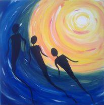 Licht, Acrylmalerei, Fantasie, Ausdrucksmalerei