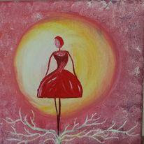 Tanz, Kreis, Rosa, Fantasie