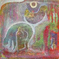 Mischtechnik, Malerei, Acrylmalerei, 2012