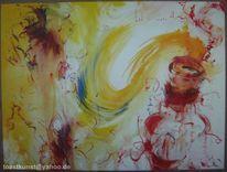 Abstrakt, Geist, Flasche, Malerei