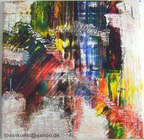 Farben, Abstrakt, Rakeltechnik, Bunt