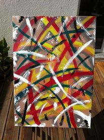 Schutzlos, Acrylmalerei, Blumen, Pflanzen