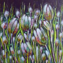 Tulpen, Blüte, Blumen, Malerei