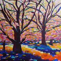 Sommer, Baum, Landschaft, Malerei