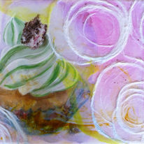 Torte, Mixed media, Cupcake, Collage