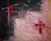 Abstrakt, Acrylmalerei, Verbindung, Malerei