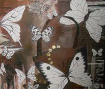 Malerei, Schmetterling, Tasche