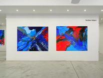 Abstrakte kunst, Türkis, Glück, Rot
