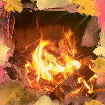 Flammen, Brennen, Feuer, Digitale kunst