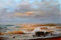 Ölmalerei, Urlaub, Himmel, Brandung