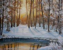 Weiß, Wald, Sonne, Winter