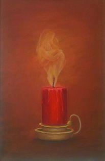 Kerzen, Magie, Flammen, Malerei