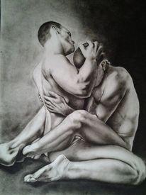 Schwul, Gay, Mann, Malerei