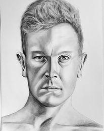 Mann, Portrait, Liebe, Malerei