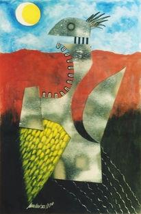 Collage, Acrylmalerei, Malerei, Peter linden