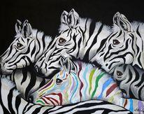 Bunt, Tiere, Afrika, Malerei