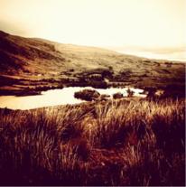 Wasser, Landschaft, Irland, Sepia