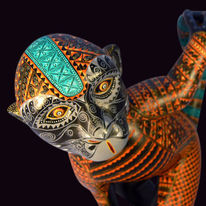 Holzskulptur, Mexiko, Affe, Jacobo angeles