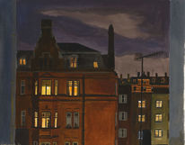 Aquarellmalerei, London, Nacht, Licht