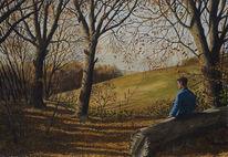 Gemälde, Menschen, Realismus, Landschaft