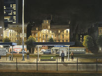 Boulevard, Realismus, Schwarz, Stadt