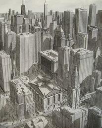 Verkehr, Chicago, Stadt, Realismus