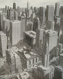 Realismus, Stadt, Usa, Landschaft