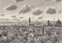 Firenze, Berge, Stadt, Stadtlandschaft landschaft