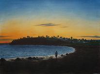 Himmel, Realismus, Gemälde, Blau