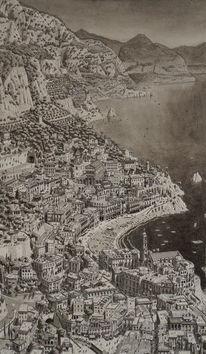 Italien, Realismus, Landschaft, Küste