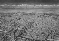 Realismus, Zeichnung, Tusche, Marrakesch